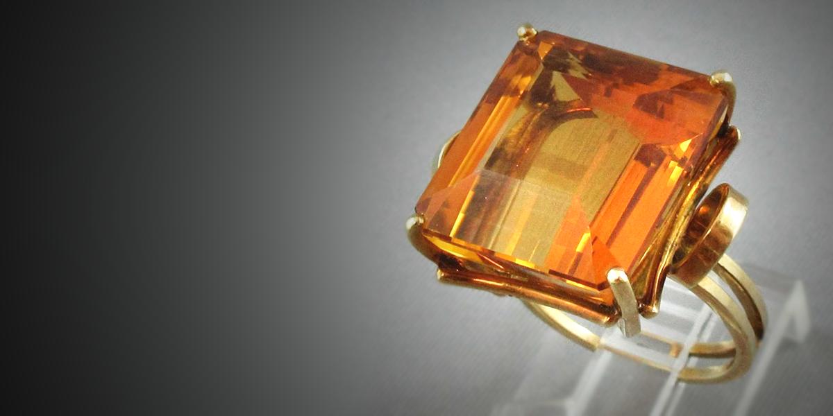 Citrine, 18K yellow gold