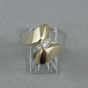 Bague 8 diamants, 14K or jaune B3184-1-1
