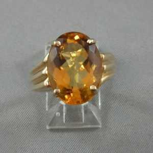 Bague Citrine, 10K or jaune B3769-1-1