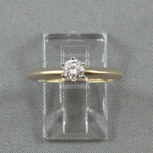 Bague Un diamant, 14K or jaune B4549-1