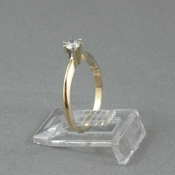 Bague Un diamant 14K or jaune B4549-2