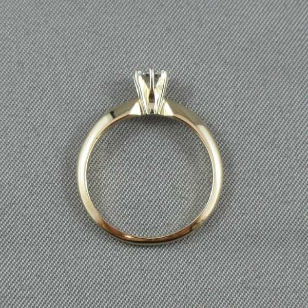 Bague Un diamant 14K or jaune B4549-3