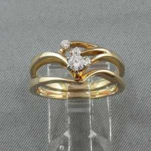 Bague avec diamants et jonc, 14K jaune B4685-1-1