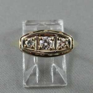 Bague 3 diamants 14K B4693-1