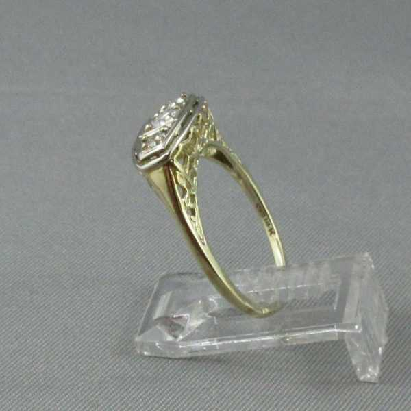Bague 3 diamants 14K B4693-2