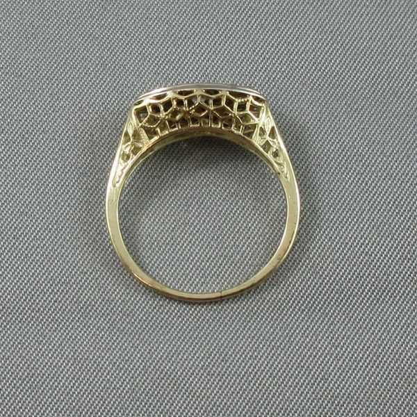 Bague 3 diamants 14K B4693-3