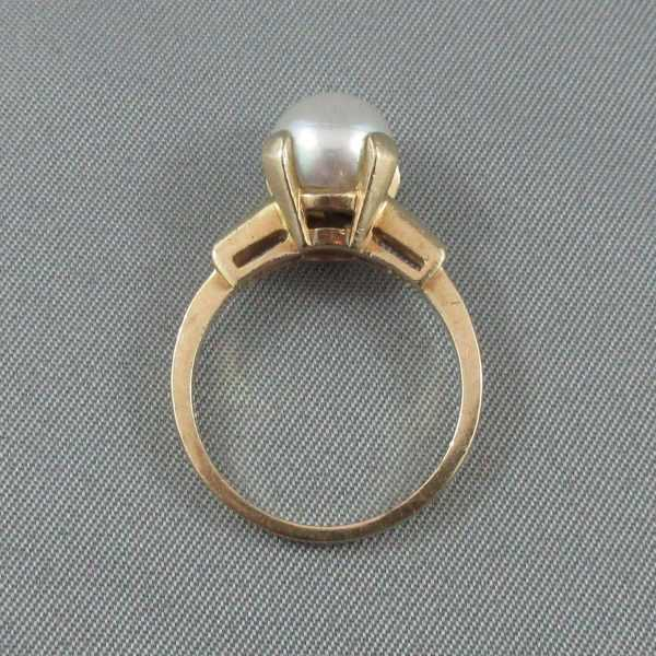 Bague Akoya, 14K or jaune B4705-3-1