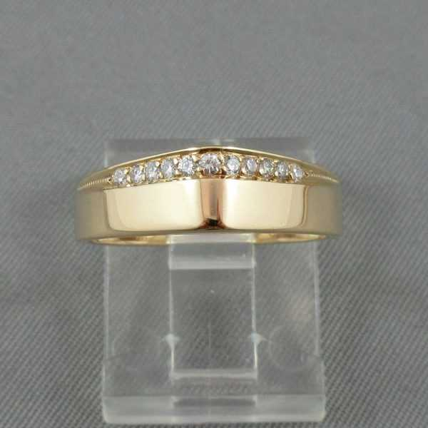 Bague 11 diamants 18K or jaune B5246-1-1