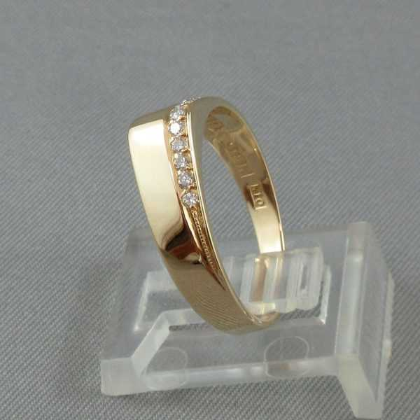 Bague 11 diamants 18K or jaune B5246-2-1