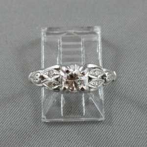Bague 5 diamants, 18K or blanc B5277-1