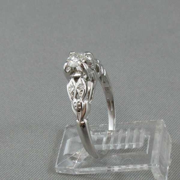 Bague 5 diamants, 18K or blanc B5277-2