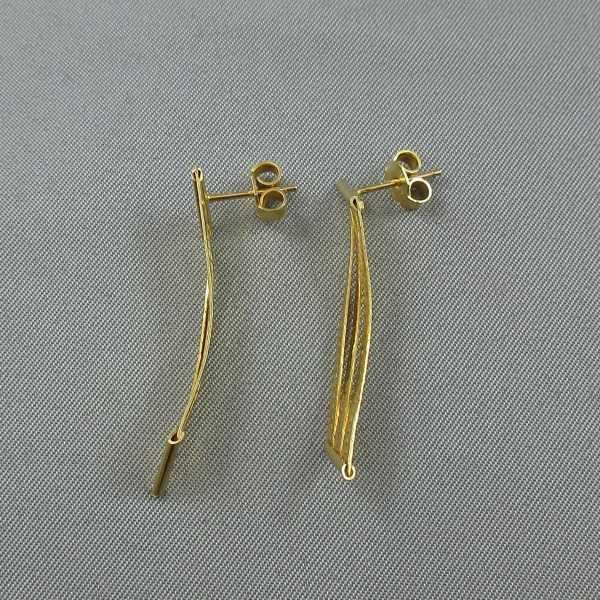 boucles d'oreilles 14k or jaune B5397-2