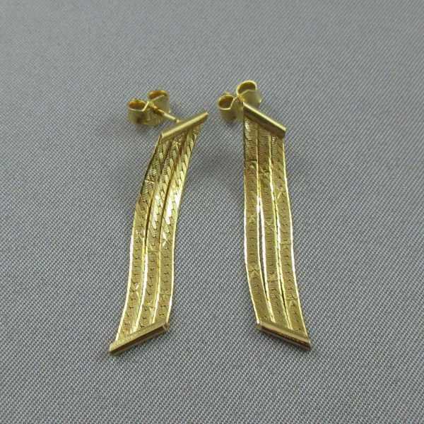 boucles d'oreilles 14k or jaune B5397-3