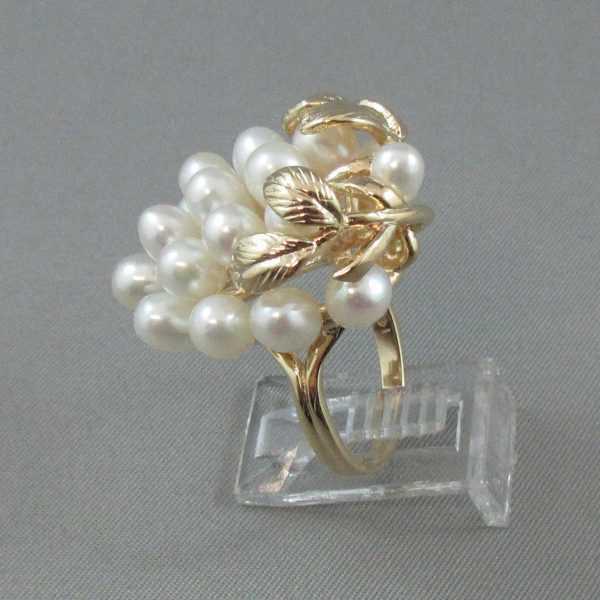 Grappe de raisins perles d'eau douce 14K jaune B5650-2