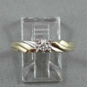 Bague diamant, 10K or jaune et blanc B5757-1