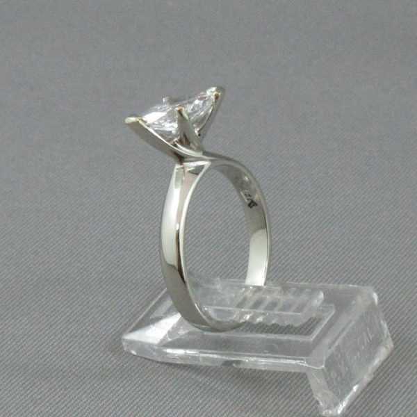 Bague Diamant marquise, 18K or blanc B5792-2