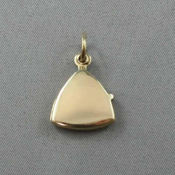 médaillon 14k or jaune B5866-2