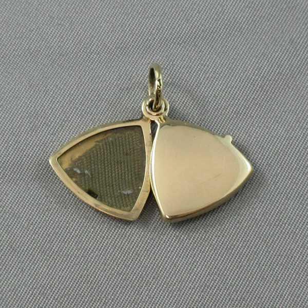 médaillon 14k or jaune B5866-4