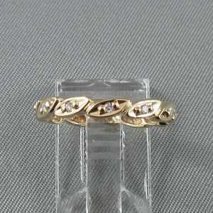 bague diamants 14k or jaune B5871-1