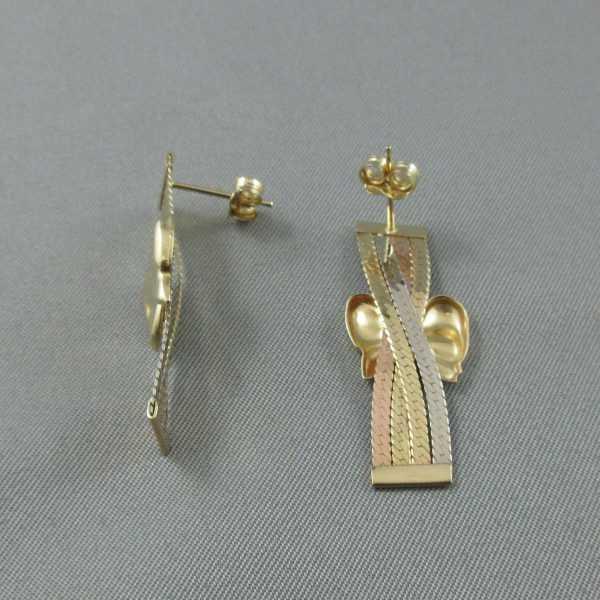 boucles d'oreilles 14k or B5909-2