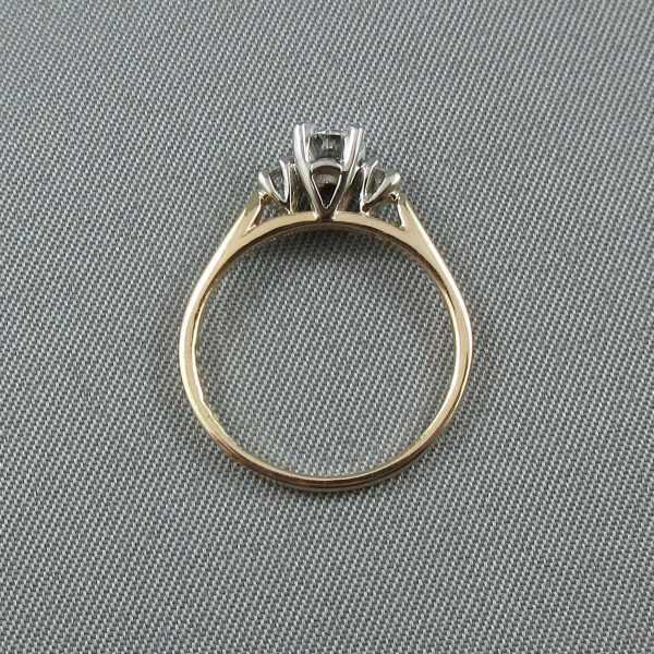 Bague 3 diamants 14K B5943-3