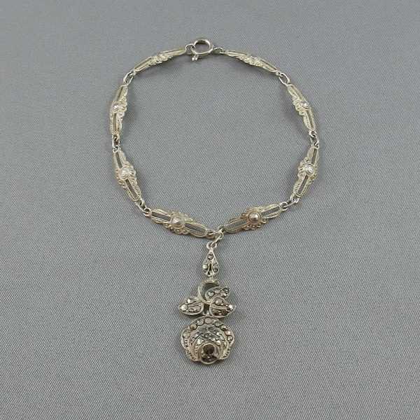 bracelet argent marcassites B5994-3.jpg B5994-4.jpg