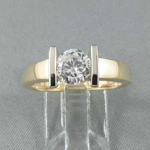 Bague un diamant, 14K or B6097-2
