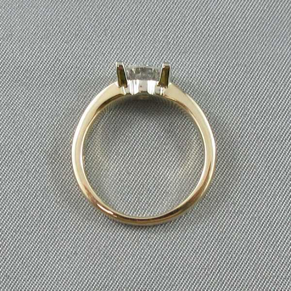 Bague un diamant, 14K or B6097-3