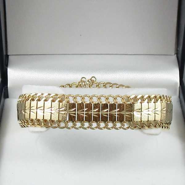 Bracelet Motif végétal, 18K or jaune B6098-1