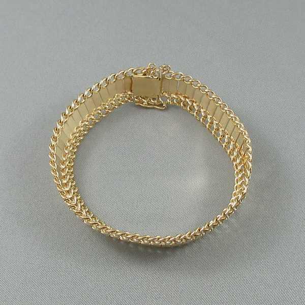Bracelet Motif végétal, 18K or jaune B6098-2