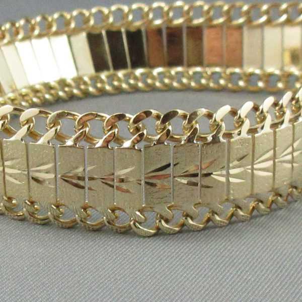Bracelet Motif végétal, 18K or jaune B6098-3