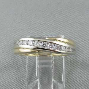 Jonc 11 diamants 10K B6099-1