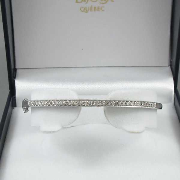 Bracelet diamants 14K blanc B6131-1