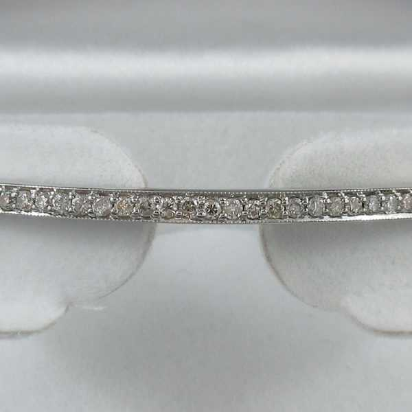 Bracelet diamants 14K blanc B6131-2