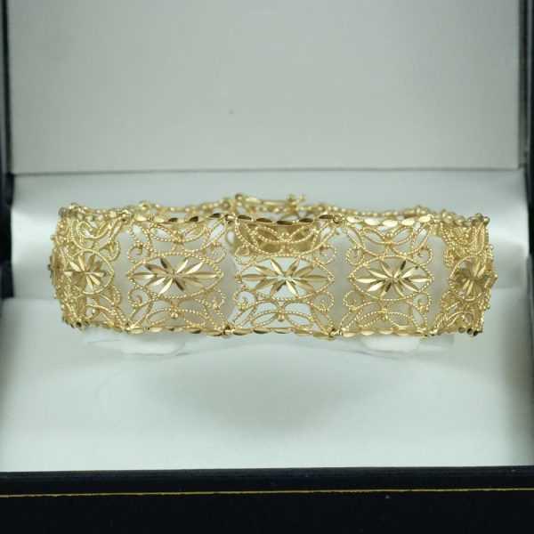 Bracelet 14k or jaune B6141-1