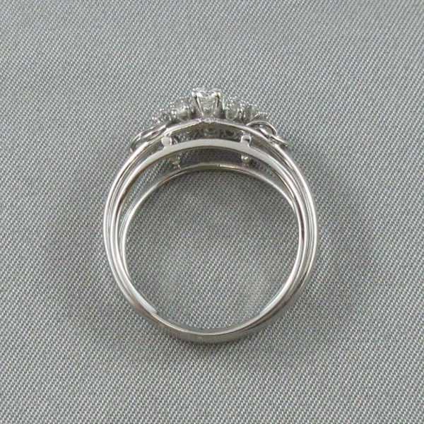 Bague 15 diamants, 14K blanc B6146-3