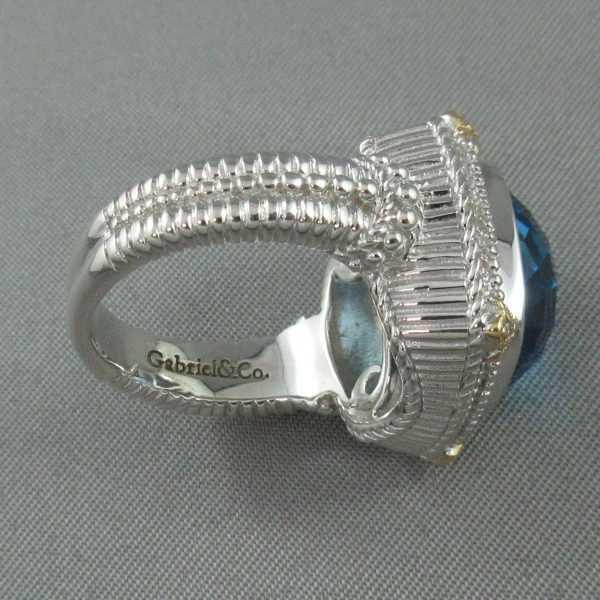 Bague, Topaze et diamants, Gabriel&Co. B6147-4