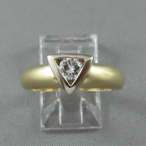 Ring one diamond, 14K B6152-1