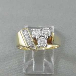 Ring 7 diamonds, 14K B6179-1