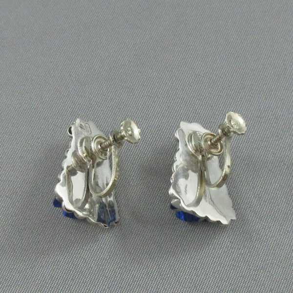 Bracelet et B.O. avec verres bleus, B6299-6