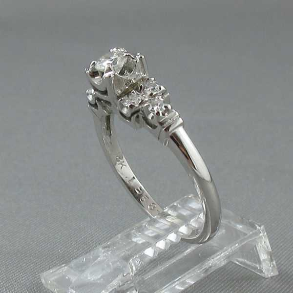 Bague 7 diamants, 18K blanc, B6320-2