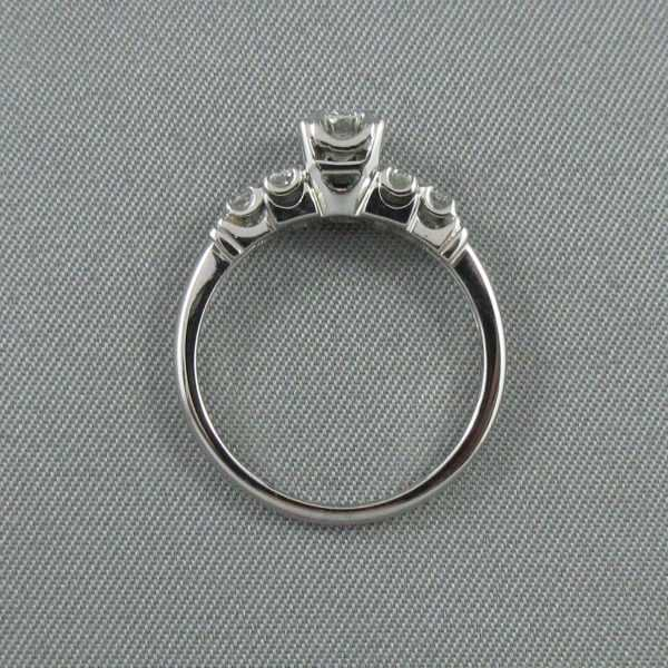 Bague 7 diamants, 18K blanc, B6320-3
