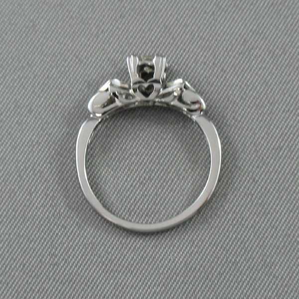 Bague un diamant, 18K blanc, B6348-3