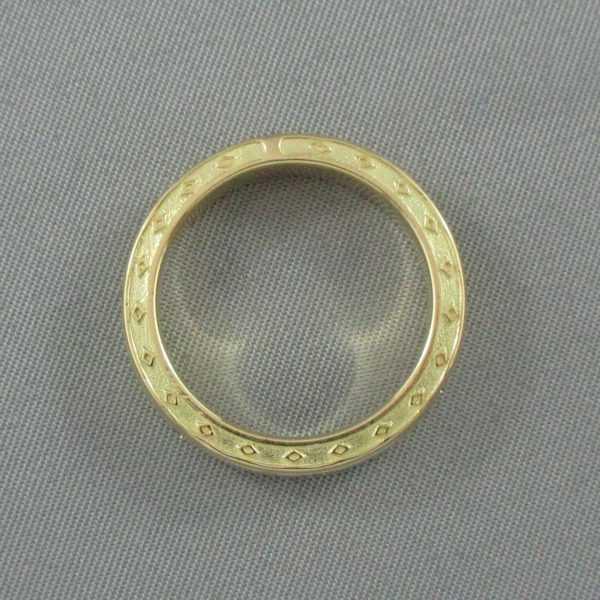 Jonc, 7 diamants, 18K jaune, B6314-4