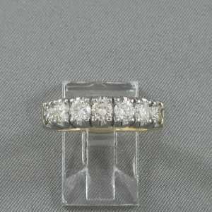 Bague 7 diamants, 14K, B6355-1