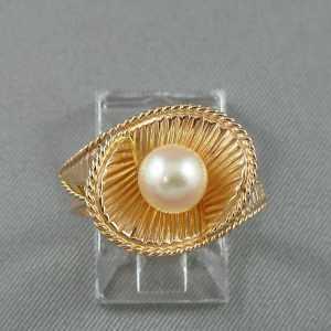 Bague perle Akoya, 10K et 14K, B6380-1