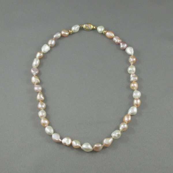 Collier perles d'eau douce, 14K, B6431-1