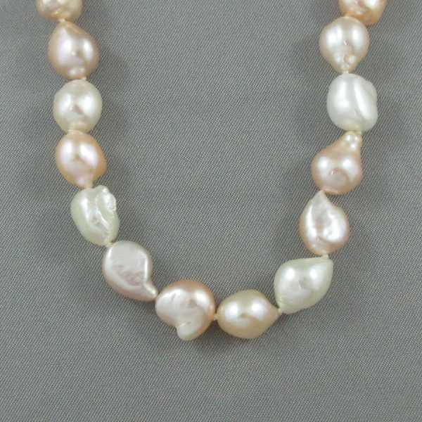 Collier perles d'eau douce, 14K, B6431-2
