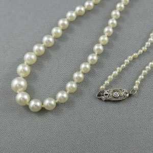 Collier perles d'eau salée, 14K, B2718-2