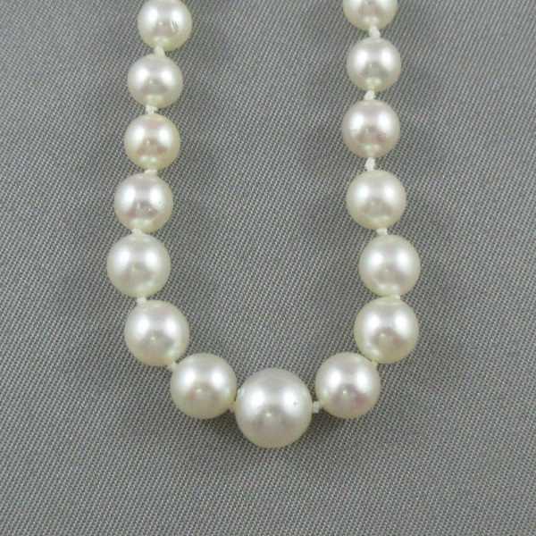 Collier Perles Akoya, 10K blanc, B2740-3